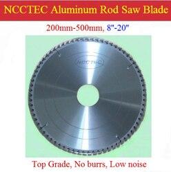 20 ''120 tanden NCCTEC Hoogwaardige 500mm 4mm dikke Aluminium carbide messen NAC20124TG snelle GRATIS Verzending