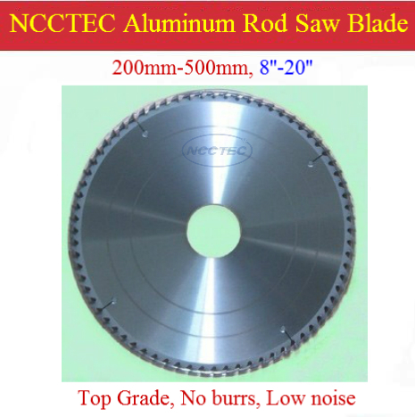 20'' 120 teeth NCCTEC TOP Grade 500mm 4mm thick carbide Aluminum cutting blades NAC20124TG fast FREE Shipping