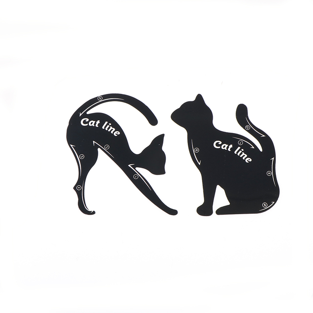2Pcs/Set New Cat Line Eye Makeup Eyeliner Stencils Templates Makeup Tools Kits For Eye 5