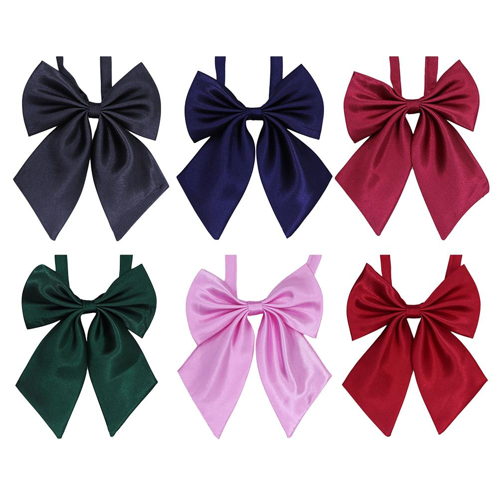 Japanese Style Butterfly Bow Tie For Female Girl Student Uniform Professional Bow Tie Lolita Cosplay Neck Wear Ribbon Ties
