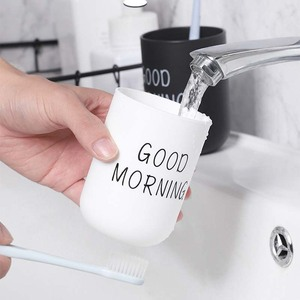 Image 2 - פשוט נורדי פלסטיק מחזיק מברשת שיניים נסיעות נייד כביסה כוס בוקר טובה שן מברשת אחסון ארגונית כוס אמבטיה סטים