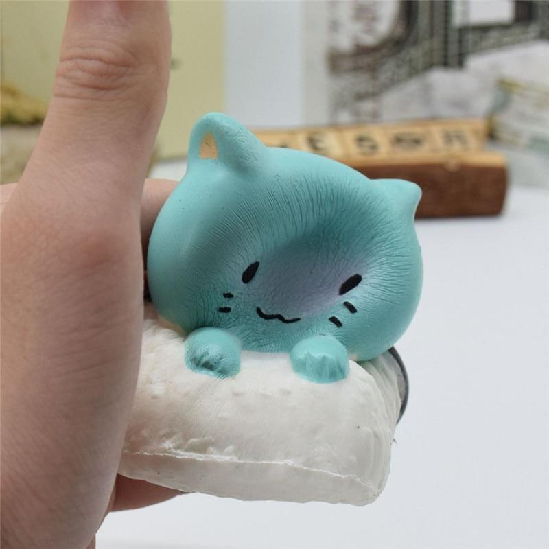 Sozzy 2018 # Antistress Elastic Environmentally PU Cat Antistress Steamed Bread Funny Gift Toys