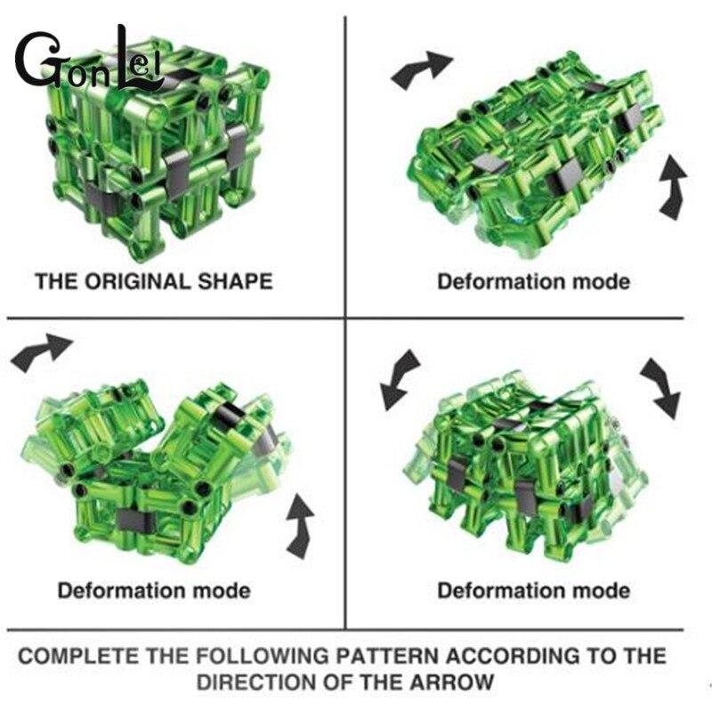 Building Blocks Mini Fidget Infinite Cube Cube Vinyl Desk Squeeze Fun Click Glide Spin Breathe Blocks Toys For Kids ZB-G181-4