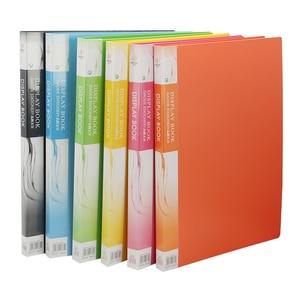 Image 1 - حافظة ملفات بلاستيكية A3 بيانات الكتاب صفحة ملونة 20 إدراج كليب 8 كيلو رسومات ألبوم ملصق A3 مجلد ملفات ل مكتب