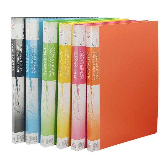 حافظة ملفات بلاستيكية A3 بيانات الكتاب صفحة ملونة 20 إدراج كليب 8 كيلو رسومات ألبوم ملصق A3 مجلد ملفات ل مكتب