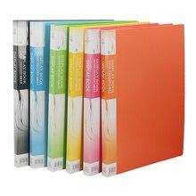 Pasta de arquivo de plástico a3 livro de dados cor página 20 inserção clipe 8 k desenhos álbum cartaz a3 pasta de arquivo para escritório