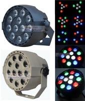 Flat Led Par Stage Light RGBW 12x3W Disco Party Lights Laser Dmx Luz Dj Effect Controller