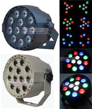 цены Flat Led Par Stage Light RGBW 12x3W Disco Party Lights Laser Dmx Luz Dj Effect Controller Dj Equipment Projector Luces Discoteca