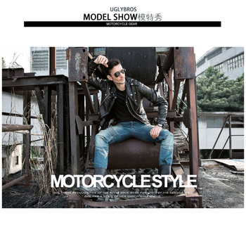 free shipping 2016 Men uglyBROS UBP11 moto pants incision stylish jeans Motorcycle jeans Road motorcycle pants