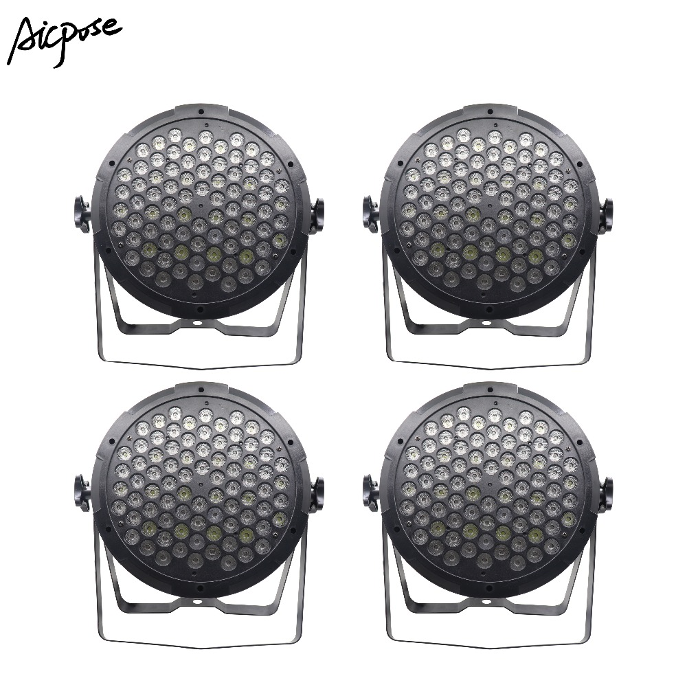 4pcs/lots 80x3w Rgbw Colorful Led Par Lights With Dmx512 Control Wedding Party Disco Lights Bar Wall Washer Stage Lighting Invigorating Blood Circulation And Stopping Pains Stage Lighting Effect