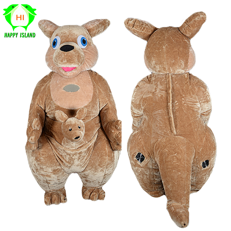 2 м мультфильм Плюшевый кенгуру надувной талисман костюмы для взрослых животных КЕНГУРУ Костюмы для косплея для рекламы Бизнес компании