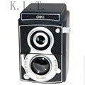 1 PCS verde High-grade Especialmente Design de Câmera Apontador de Lápis Manivela Manual Desktop Papelaria Escola