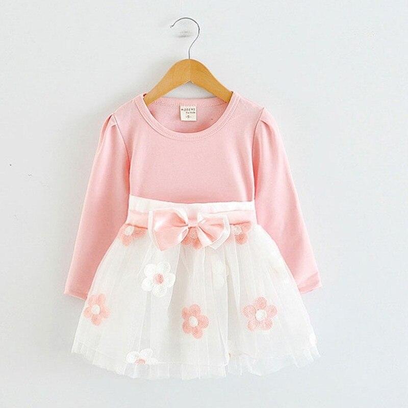 My Little Girl Long Sleeve Baby Girls Dress Toddler 1st 2nd Birthday Tutu Floral Dresses for Newborn Girls Casual Flower Vestido ...