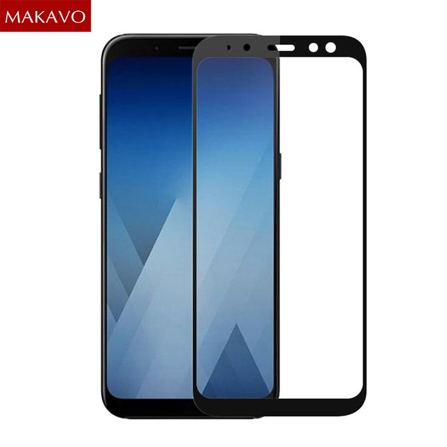 wholesale dealer df57d 1168a US $2.99 25% OFF|2pcs For Samsung Galaxy J6 2018 Tempered Glass Full Cover  Screen Protector Armor Film For Samsung Galaxy J4 J8 J7 2018 Glass-in Phone  ...