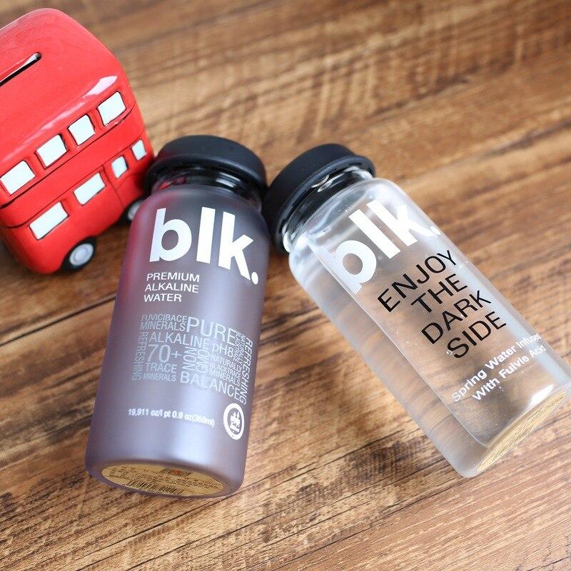 Glass Water Bottle Big Mouse Leakproof Sport Hiking Camping Portable Shaker Tea Bottles Travel Drinkware 360ml H1027