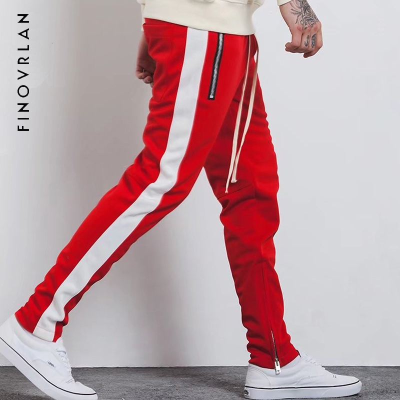 2018 NEW Fashion Fitness Pants Men Casual Trousers Fashion Fitted Zipper Street Wear Hip Hop Straight Man New Pants