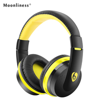 Moonliness Stereo HIFI Wireless Earphones MX666 Bluetooth Headphone Gaming Headset With Microphone TF FM Radio For