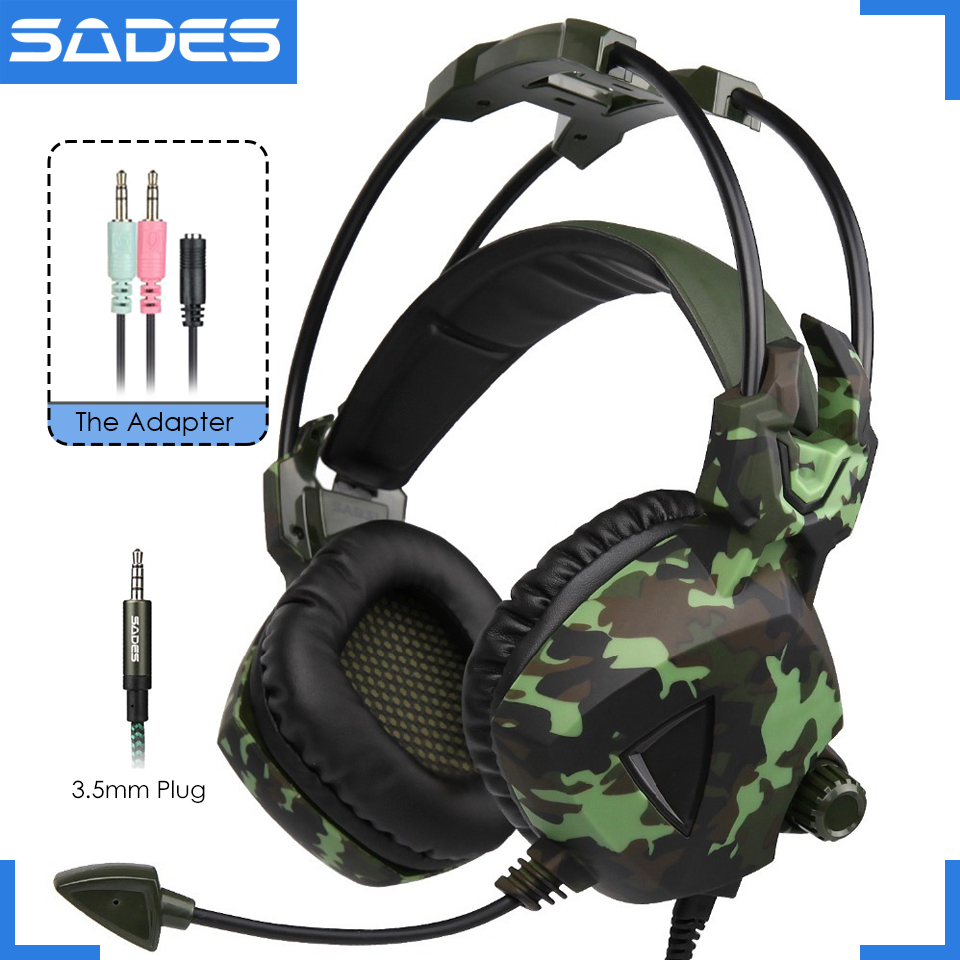 bilder für Original SADES SA-931 Deep Bass Headset Gaming Kopfhörer Kopfhörer Mit Mic Für Laptop/Xiaomi Handy/PC