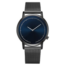 Fashion Mens Watches Ultra Thin Wrist for Men Luxury Quartz Watch Casual Slim Mesh Steel Sport Business Clock