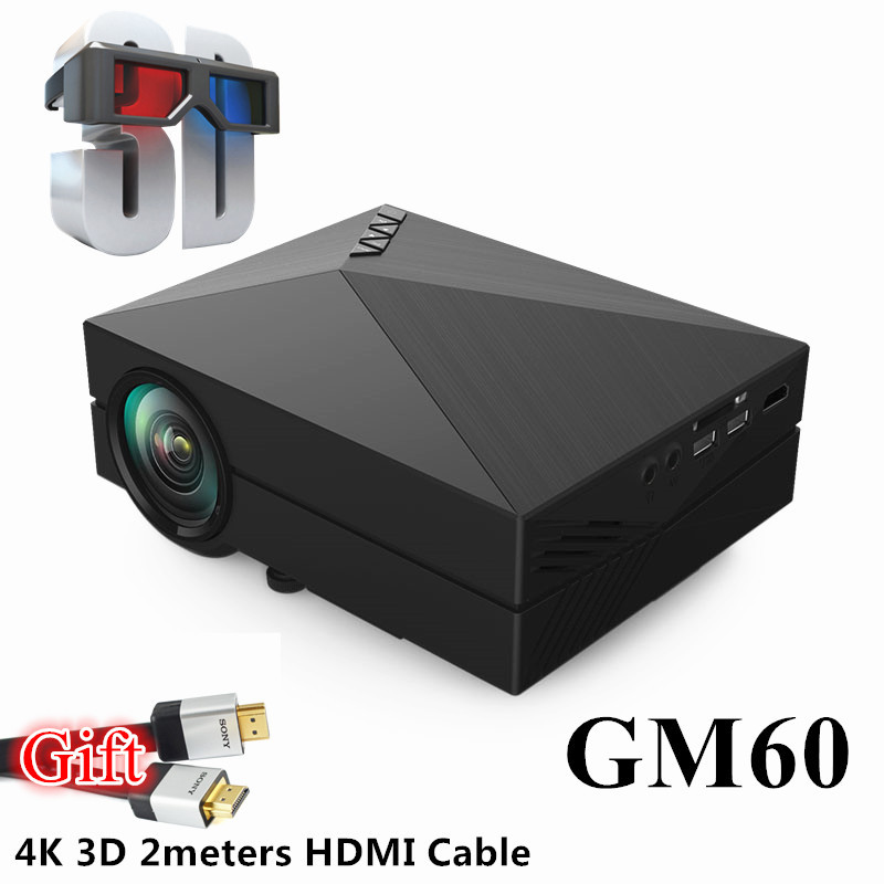 Free Shipping 2016 Bl35 Projector Full Hd Tv Home Cinema: (Smart Life)2016 Full HD Mini LED Red And Blue 3D Portable