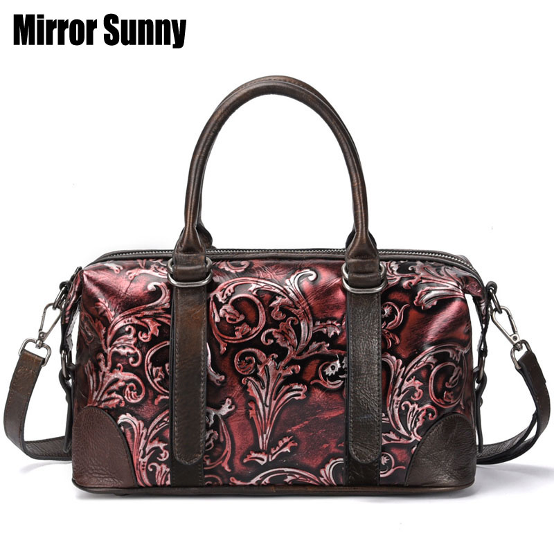 Vintage Genuine Leather Luxury Handbags Women Bags Designer Hand bags Female Shoulder Crossbody Messenger Bag 2019 Casual Tote