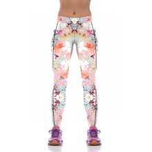 NEW KYK1077 Sexy Girl Women Flower Peony 3D Prints High Waist Running Fitness Sport Leggings Jogger Yoga Pants