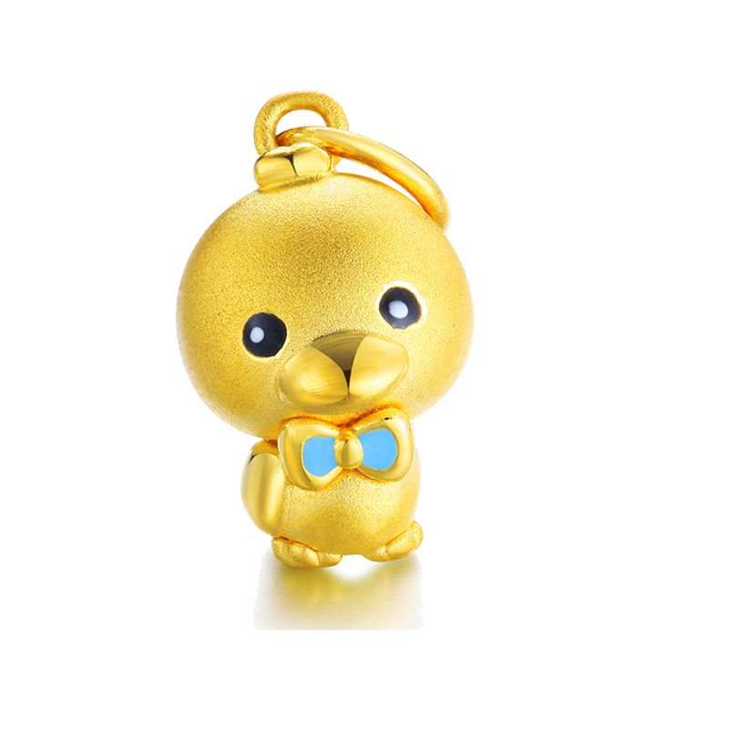 Nouveau solide 999 24 K or jaune pendentif femmes mignon canard pendentifNouveau solide 999 24 K or jaune pendentif femmes mignon canard pendentif