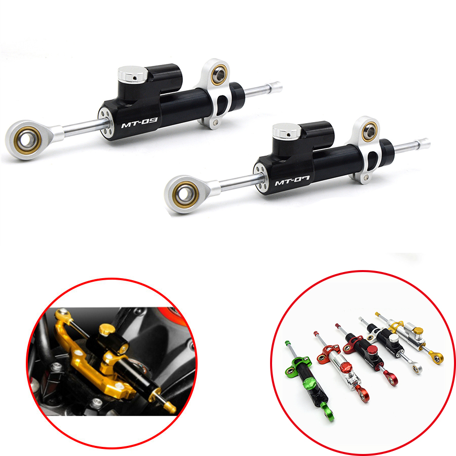 2018 Hot Motorcycle Damper Steering Stabilizer Moto Linear Safety Control For YAMAHA MT 07 09 MT07