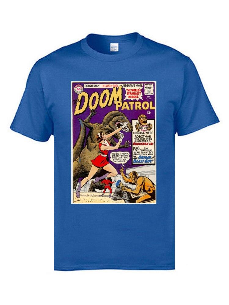 US $7 89 41% OFF|Doom Robotman Patrol Marvel T Shirts Comic Retro Classic  Tee Shirts 2019 Cotton Crazy Tops & Tees Elasti Girls Cool T Shirts-in