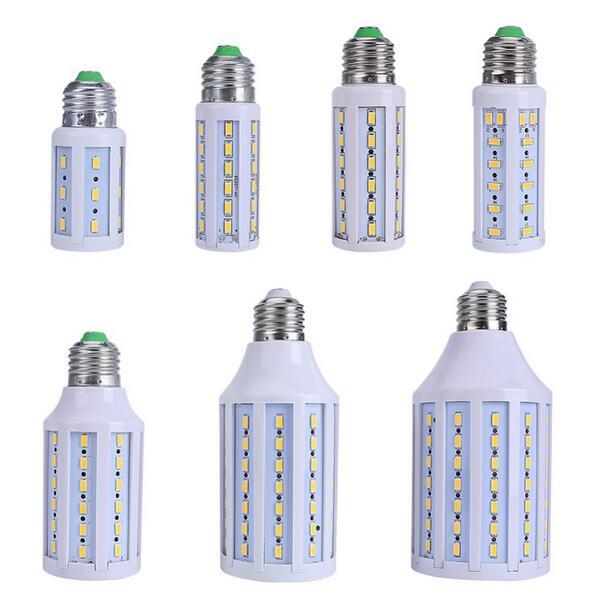 E27 B22 E14 10 Вт/12 Вт/15 Вт/25 Вт/30 Вт/40 Вт /50 Вт 5730 SMD CREE чип мозоли СИД 110 В/220 В AC светодиодные лампы белый /теплый белый лампада