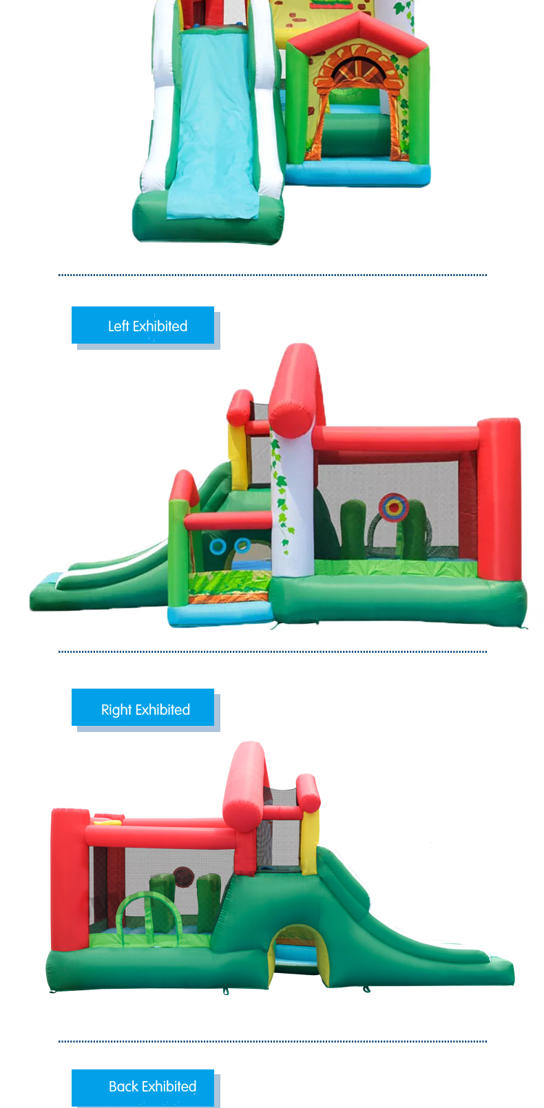 HTB1HePdPFXXXXa3XFXXq6xXFXXXk - Mr. Fun Residential Inflatable Kids Bouncer Trampoline Bounce House with Blower