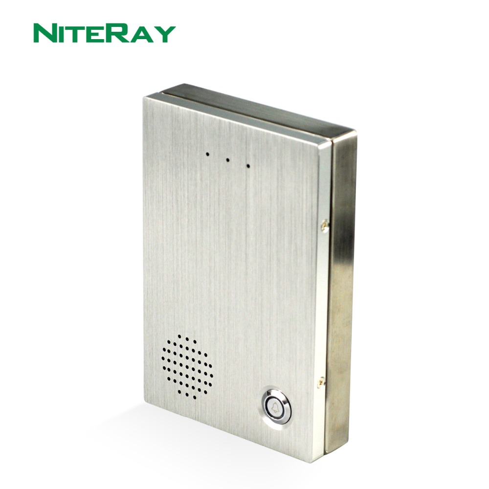 Niteray Ny Fullt vanntett SIP-dørklokketelefon for tilgang til kontroll på kontoret