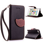 for Apple iPod Touch 6 Case Leaf Clasp Flip Leather Cases Stand Function Card Slot Wallet Cover black for Apple iPod6 Touch6