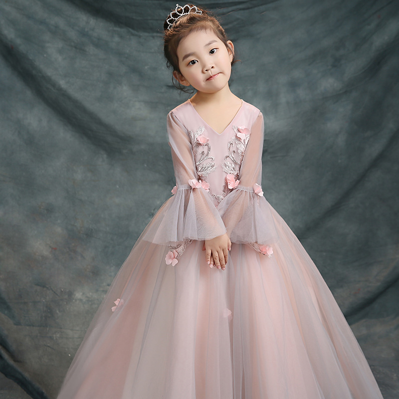 Children 39 s Dress Small Host Costumes Show Catwalk New Birthday Piano Singing Fluffy Dress Evening Dress in Dresses from Mother amp Kids