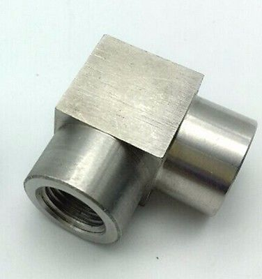 1/8 BSP Eqaul Female Thread Elbow 90 Deg 304 Stainless Steel Pipe Fitting Adapter Connector Operating pressure 2.5 Mpa