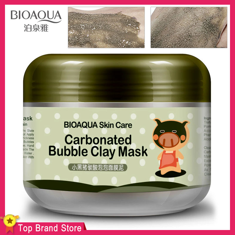 Bioaqua Skin Care Carbonated Bubble Clay Face Mask Nutrition Repair Face Cream Hydrating And Moisturizing Whitening Facial Masks