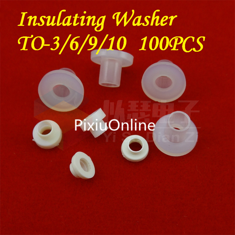 100PCS YT437   TO Gasket   Insulating Washer  Insulation Grain   Transistors Gasket   Concave And Convex Pad