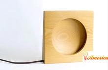 Rodada lua lâmpada de mesa de decoração para casa minimalista quarto lâmpada de cabeceira LED nocturna cintilante, De faia, Ac110-240v
