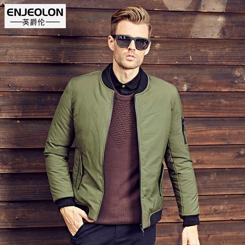 Enjeolon marque épaississent hiver vers le bas veste hommes vêtements blanc duvet de canard manteau mâle qualité hommes vers le bas parkas plus la taille 3XL YRF901