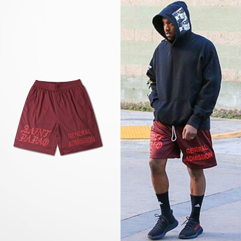 Casual Calabasas Shorts Men Kanye West Saint Pablo Seobean Short Hip Hop Drake Summer Fashion Brand Skateboard Man Shorts