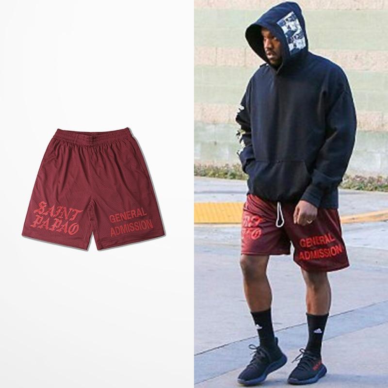 Casual Calabasas Shorts Men Kanye West Saint Pablo Seobean Short Hip Hop Drake Summer Fashion Brand Skateboard Man Shorts