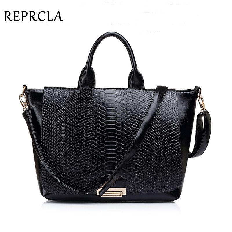 REPRCLA New Snake Skin Split Leather Bag Women Leather Handbags Brand Shoulder Bags Tote BB0927 yuanyu 2018 new hot free shipping real python leather women clutch women hand caught bag women bag long snake women day clutches