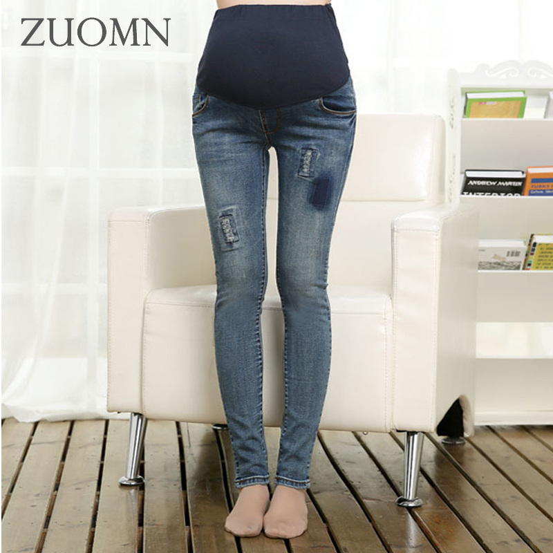 Winter Velour Maternity Jeans For Pregnant Women Belly Jeans Pregnancy Elastic Waist Pencil Trousers Y880 trendy snow wash slimming elastic waist capri jeans for women