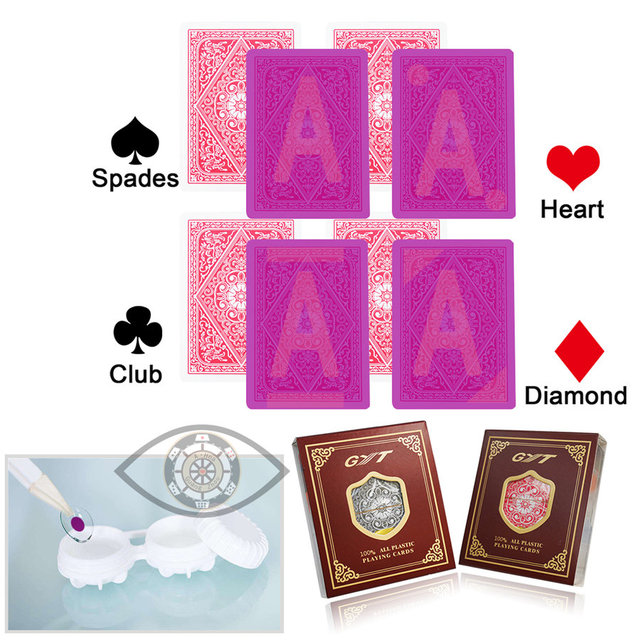 730bd06aaf10 GYT 609 Paper Marked Playing Cards Magic Invisible Cards for UV Contact  Lenses Cheat in Casino Gambling Anti Poker Cheat