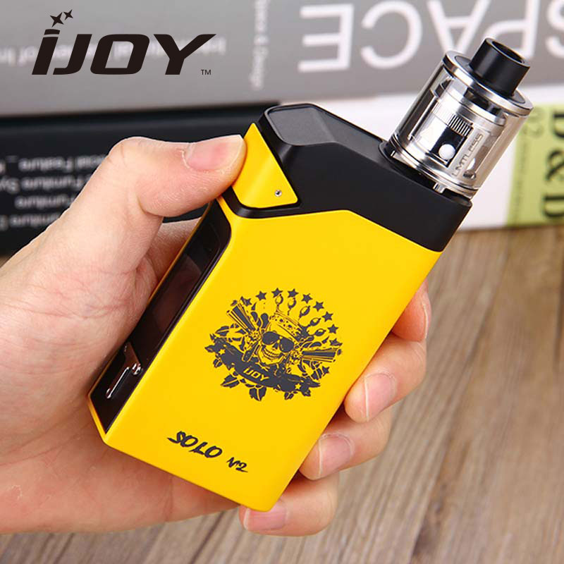 Original 200W IJOY Solo V2 Kit with SOLO V2 Mod 200W and SubOhm Tank Atomizer 2ml vs 200W IJOY RDTA BOX Kit original 225w ijoy captain tc kit 2 6ml rdta 5s atomizer tank w ijoy captain pd1865 box mod kit no 18650 battery vs alien