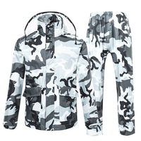 TINGQI Camouflage Raincoat Male Female Rainwear Waterproof Hiking Rain Coat Rain Suit Motorcycle