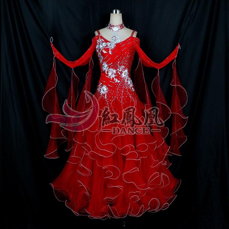 High-end International Standard Ballroom Smooth Dance Competition Dress, /Ballroom Standard Tango Waltz Dance Dress
