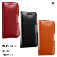 SFor Apple IPhone 8 Case Luxury Leather Silicone Flip Cover Stand Wallet Coque SFor Apple IPhone