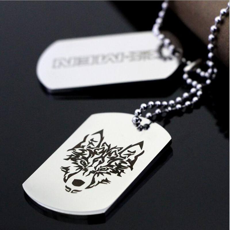 steel custom gift from dog titanium customized necklace jewelry fashion necklaces aziz tag item pendant in stainless engrave logo men bekkaoui free