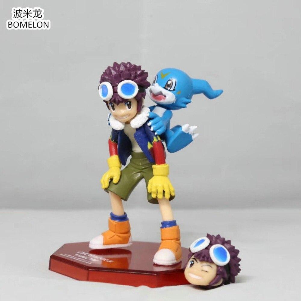 Kawaii мотомии Дайсуке + V-ПН Аниме фигурки Digimon Приключения 2 Модель игрушки фигура Brinquedos мальчик Игрушечные лошадки для детский подарок